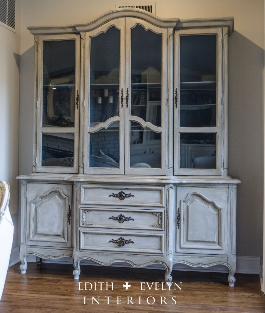 Delightful French Cabinet Before And After