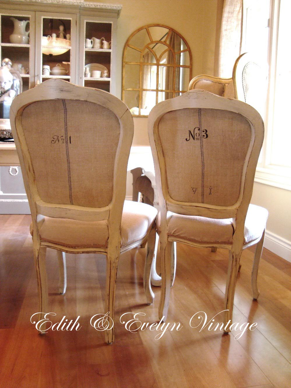 Frenchy Grain Sack Dining Chairs Edith Amp Evelyn