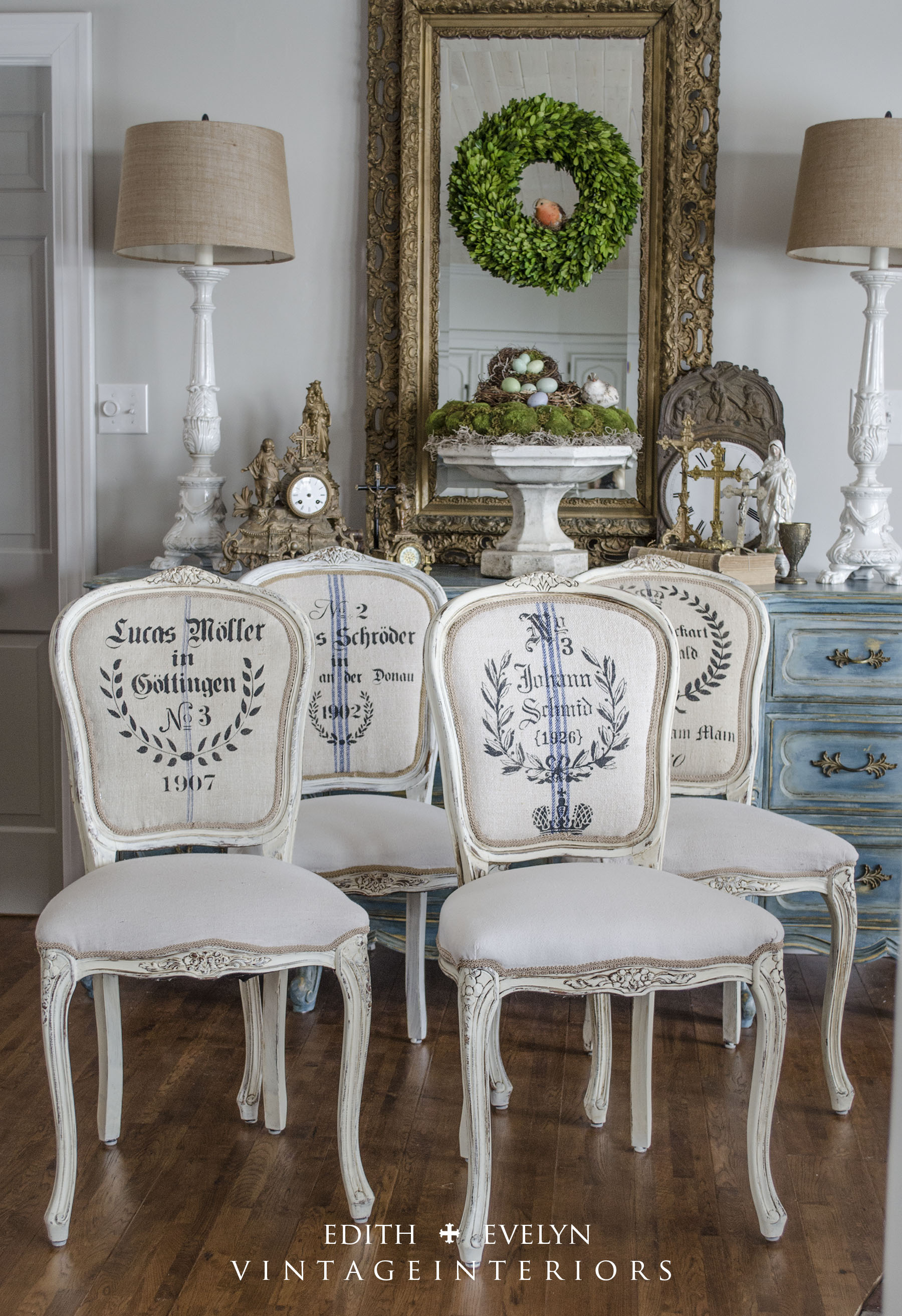 French Provincial Dining Table Chairs